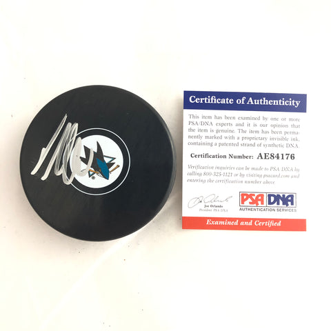 Timo Meier signed Hockey Puck PSA/DNA San Jose Sharks Autographed