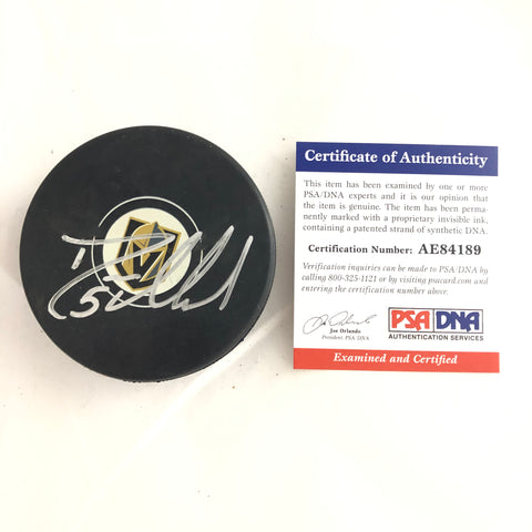 Deryk Engelland signed Hockey Puck PSA/DNA Vegas Golden Knights Autographed