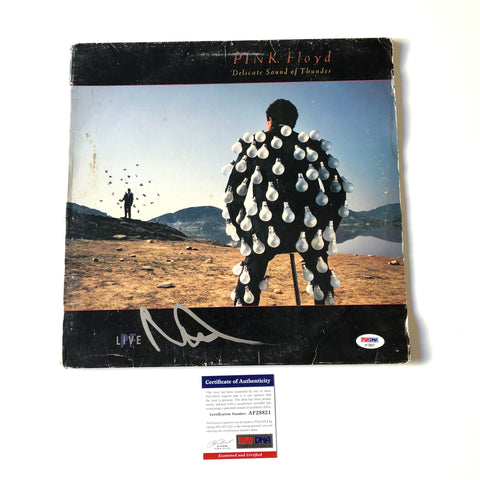 Nick Mason Signed Pink Floyd LP Vinyl PSA/DNA Album autographed Delicate Sound of Thunder