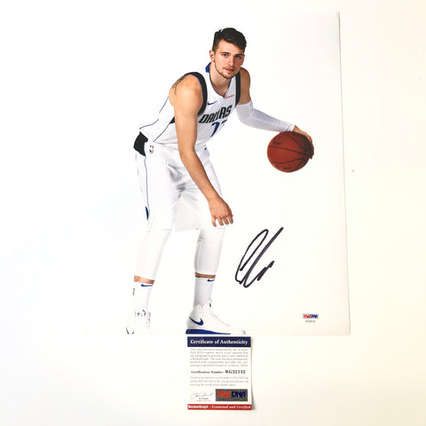 Luka Doncic signed 11x14 photo PSA/DNA Dallas Mavericks Autographed