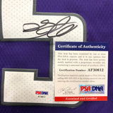 De'Aaron Fox Signed Jersey PSA/DNA Sacramento Kings Autographed