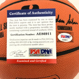Stephen Curry & Joe Montana Signed Basketball PSA/DNA Autographed Golden State Warriors