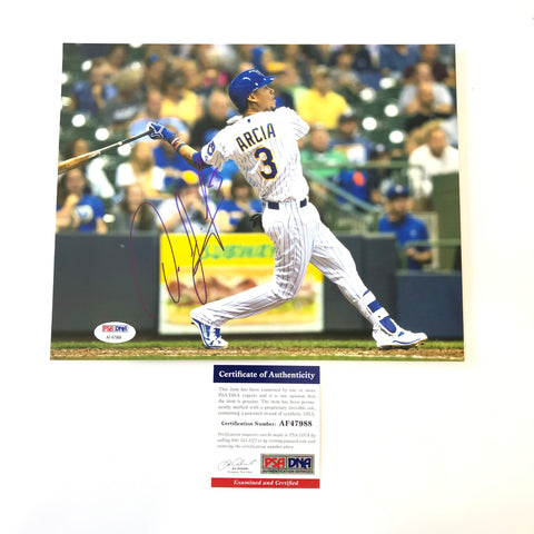 Orlando Arcia signed 8x10 photo PSA/DNA Milwaukee Brewers Autographed