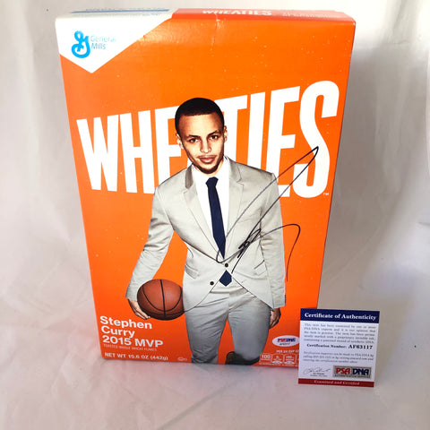 Stephen Curry Signed Wheaties Box PSA/DNA Golden State Warriors Autographed Steph
