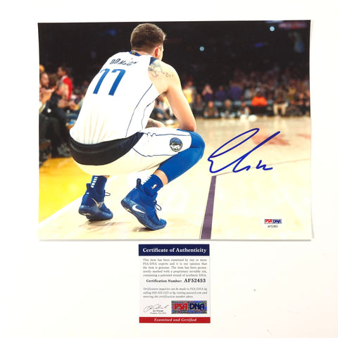 Luka Doncic signed 8x10 photo PSA/DNA Dallas Mavericks Autographed