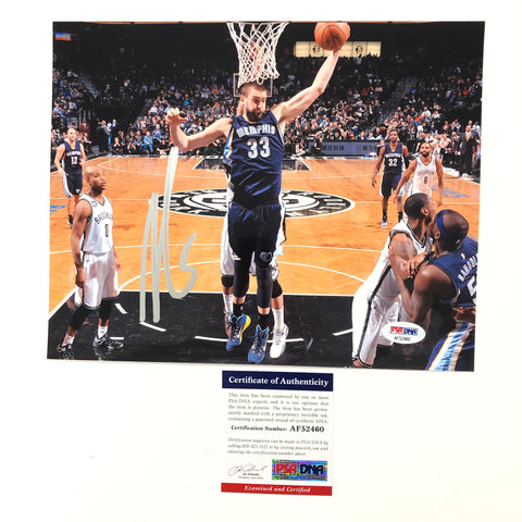 Marc Gasol signed 8x10 photo PSA/DNA Memphis Grizzlies Autographed