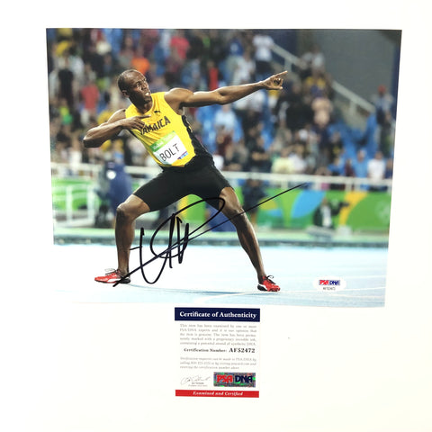 Usain Bolt signed 8x10 photo PSA/DNA Autographed