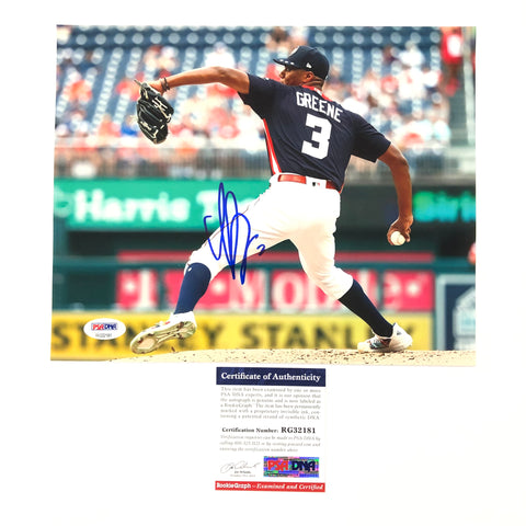 Hunter Greene signed 8x10 photo PSA/DNA Cincinnati Reds Autographed