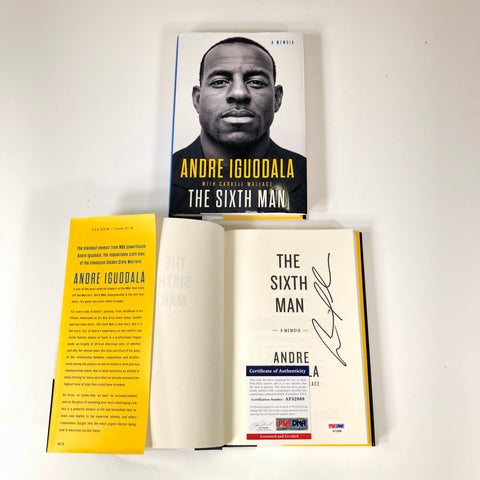 Andre Iguodala Signed Book PSA/DNA Autographed The Sixth Man Golden State Warriors