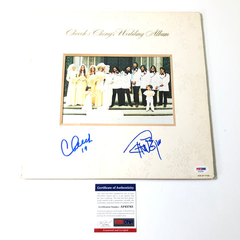 Cheech & Chong Signed LP Vinyl PSA/DNA Album autographed Wedding Album and Marin Tommy