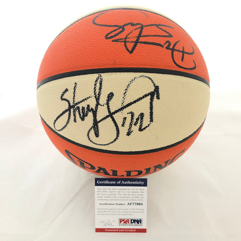 Sheryl Swoopes & Dawn Staley Signed WNBA Basketball PSA/DNA Autographed