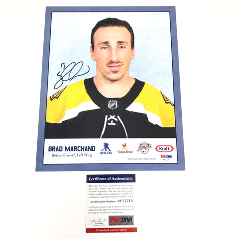 Brad Marchand signed 8x10 photo PSA/DNA Boston Bruins Autographed