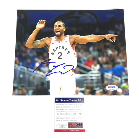 Kawhi Leonard Signed 8x10 Photo PSA/DNA Toronto Raptors Autographed