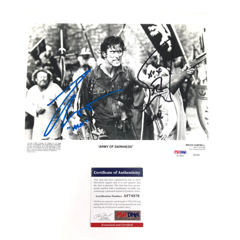 Bruce Campbell Sam Raimi signed 8x10 photo PSA/DNA Autographed