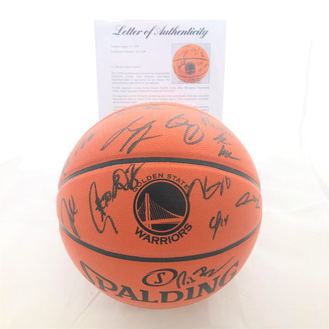 2018-19 Warriors Team Signed Basketball PSA/DNA Autographed Ball 2019