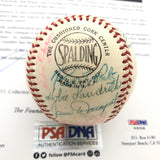 1958 San Francisco Giants Team Signed Baseball PSA/DNA autographed Willie Mays Ball