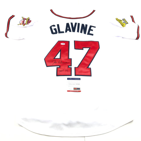 Tom Glavine Signed Jersey PSA/DNA Atlanta Braves Autographed HOF 14