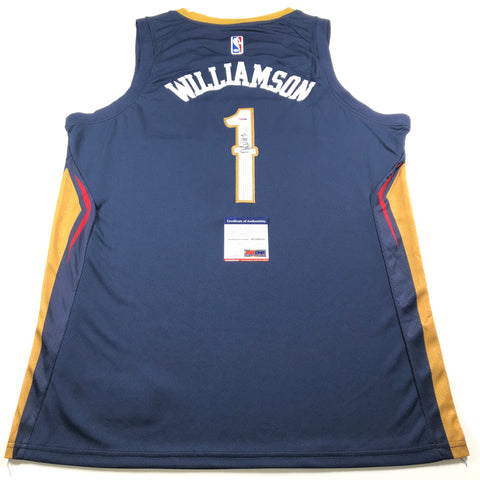 Zion Williamson Signed Jersey PSA/DNA New Orleans Pelicans Autographed