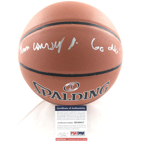 Vernon Carey Jr Signed Basketball PSA/DNA Duke Blue Devils Autographed