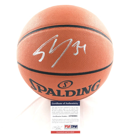 Shaquille O'Neal Signed Basketball PSA/DNA Lakers Autographed SHAQ Heat Magic LSU