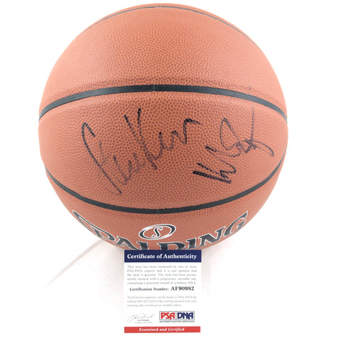 Klay Thompson Steve Kerr Signed Basketball PSA/DNA Warriors Autographed