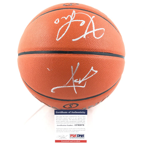 Kevin Love Kyrie Irving Signed Basketball PSA/DNA Cleveland Cavaliers Autographed