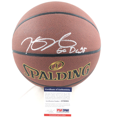 Kevin Durant Signed Basketball PSA/DNA Golden State Warriors Autographed