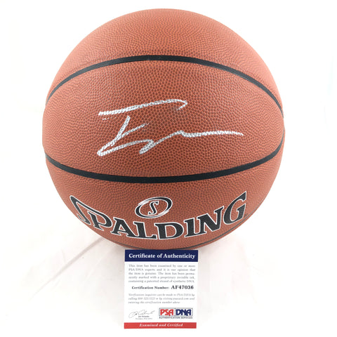Trae Young Signed Basketball PSA/DNA Atlanta Hawks Autographed