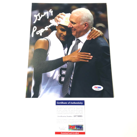 Gregg Popovich Signed 8x10 Photo PSA/DNA San Antonio Spurs Autographed