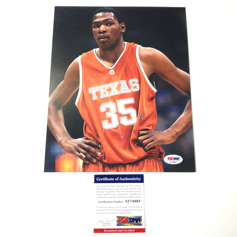 Kevin Durant Signed 8x10 Photo PSA/DNA Texas Longhorns Autographed