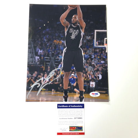Kawhi Leonard Signed 8x10 Photo PSA/DNA San Antonio Spurs Autographed