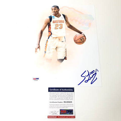 Scottie Lewis Signed 8x10 Photo PSA/DNA Florida Gators Autographed