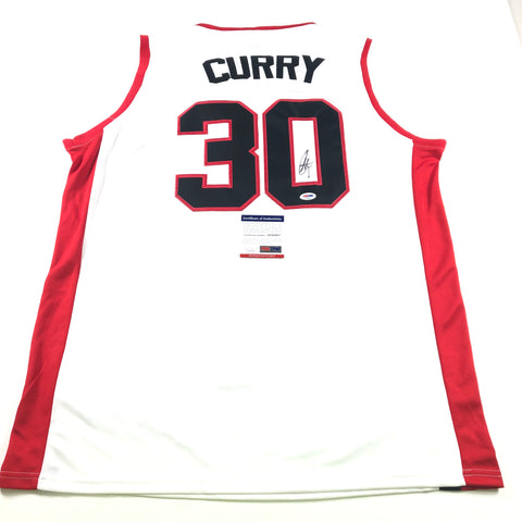 Stephen Curry Signed Jersey PSA/DNA Warriors Autographed Davidson Steph