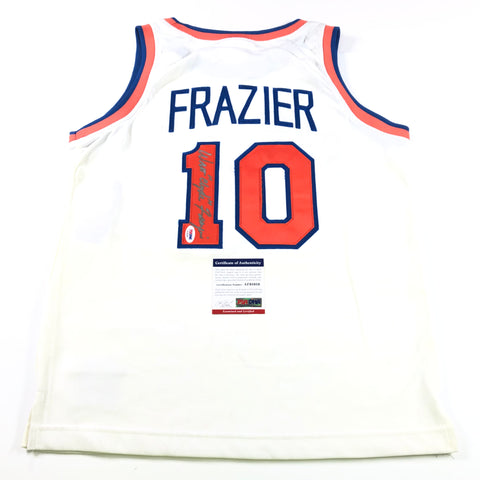 Walt Clyde Frazier Signed Jersey PSA/DNA New York Knicks Autographed