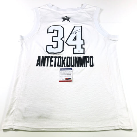 Giannis Antetokounmpo Signed All-Star Jersey PSA/DNA Milwaukee Bucks Autographed