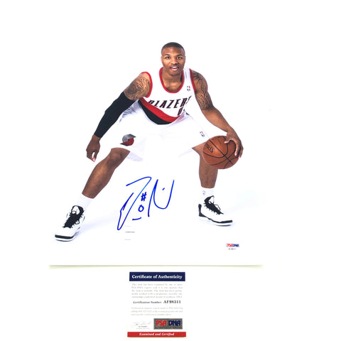 Damian Lillard Signed 11x14 photo PSA/DNA Portland Trail Blazers Autographed