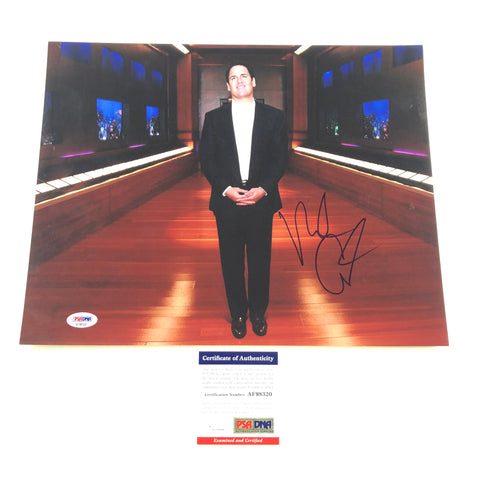 Mark Cuban Signed 11x14 Photo PSA/DNA Dallas Mavericks Autographed