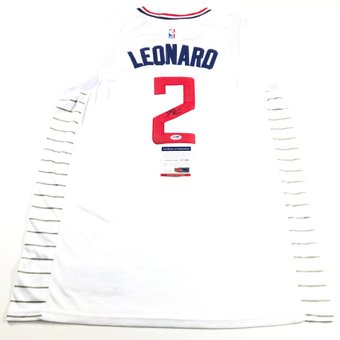 Kawhi Leonard Signed Jersey PSA/DNA Los Angeles Clippers Autographed White