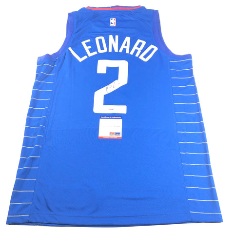Kawhi Leonard Signed Jersey PSA/DNA Los Angeles Clippers Autographed Blue