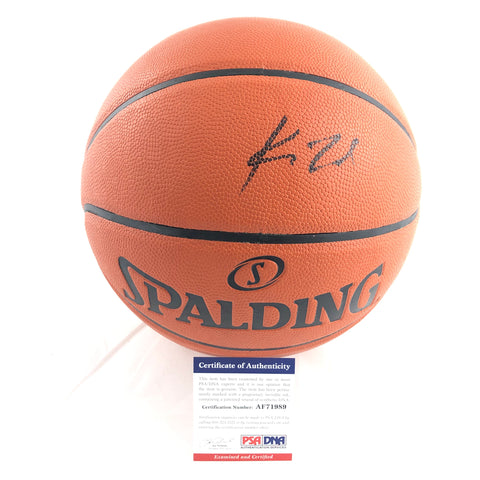 Kawhi Leonard Signed Basketball PSA/DNA Los Angeles Clippers Autographed