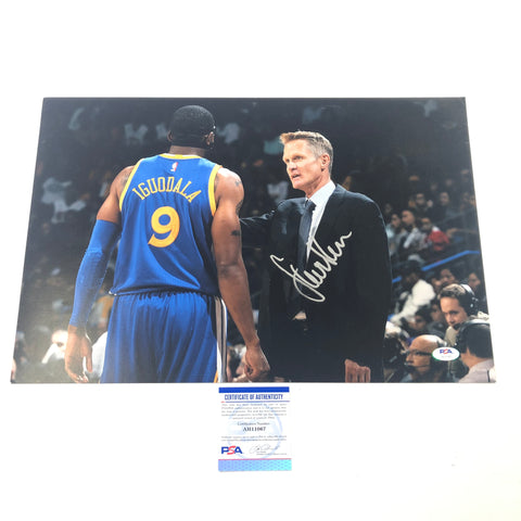 Steve Kerr signed 12x18 photo PSA/DNA Golden State Warriors Autographed