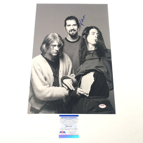 Krist Novoselic Signed 12x18 Photo PSA/DNA autographed