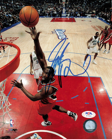 Elton Brand 8x10 photo PSA/DNA Los Angeles Clippers Autographed