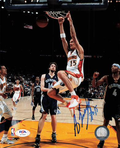 Andris Biedrins signed 8x10 photo PSA/DNA Warriors Autographed