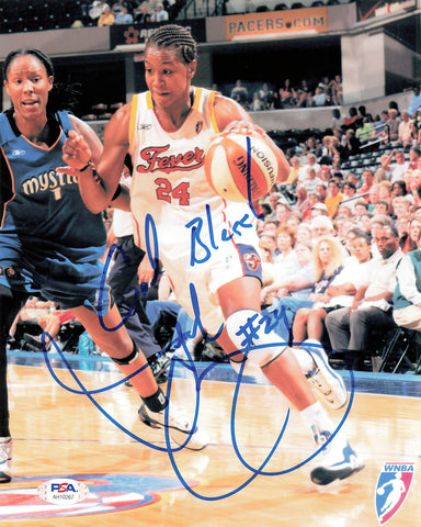 Tamika Catchings Signed 8x10 photo WNBA PSA/DNA Indiana Autographed