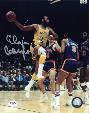 Elgin Baylor signed 8x10 photo PSA/DNA Los Angeles Lakers Autographed