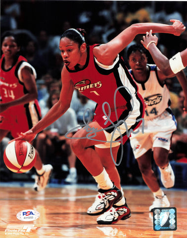 Tina Thompson Signed 8x10 Photo PSA/DNA Autographed Houston Comets