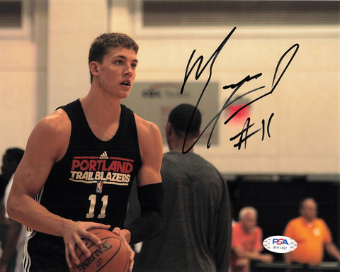 Meyers Leonard signed 8x10 photo PSA/DNA Portland Trailblazers Autographed Heat