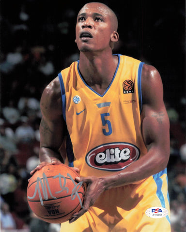 Maceo Baston signed 8x10 photo PSA/DNA Maccabi Tel Aviv Autographed