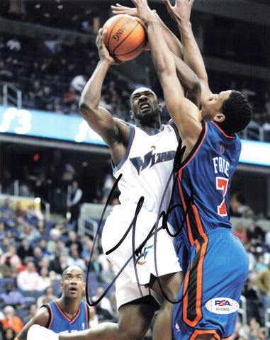 Gilbert Arenas signed 8x10 photo PSA/DNA Washington Wizards Autographed
